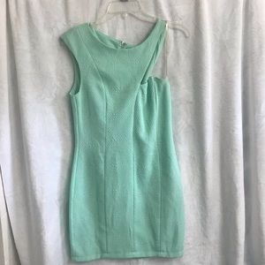 Mint Green Asymmetrical Cocktail Dress Sz M